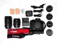 Canon 700d DSLR bundle camera body lenses strap bag