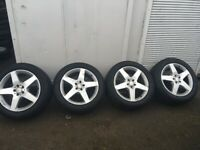 Mercedes alloy wheels with Goodyear Eagle F1 tyres.