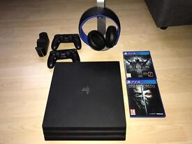 PS4 Pro with lots of extra accessories