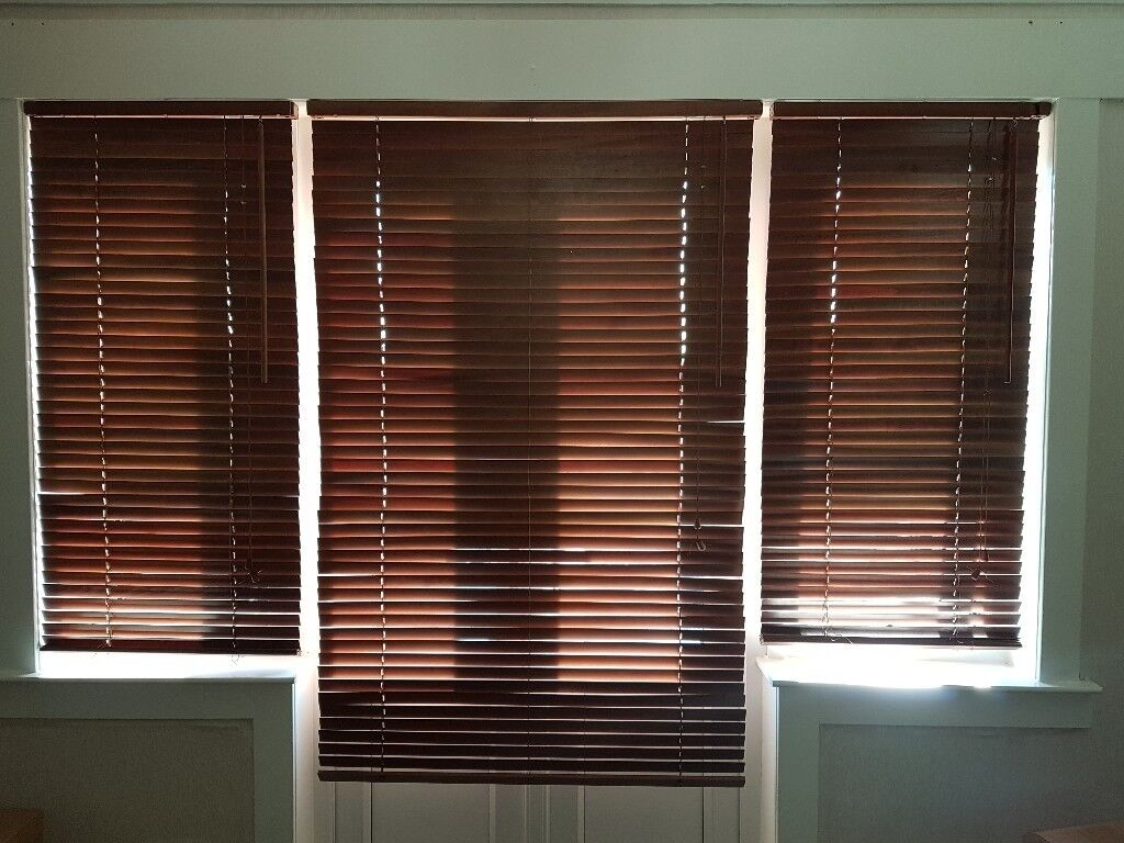 Ikea Brown Wooden Blinds In Cowdenbeath Fife Gumtree