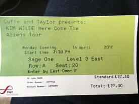 Kim Wilde concert ticket 16.04.18 at Sage Gateshead