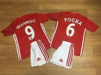 Manchester united child football shirts child kit POGBA OR IBRAHIMOVIC