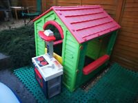 Playhouse and kitchen