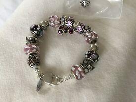 Beautiful Pandora bracelet, make ideal present, small size.