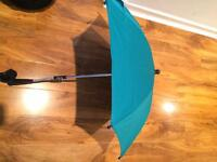 Mamas and Papas teal parasol for pram/ pushchair