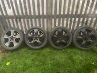 17 inch 5 stud Vauxhall Astra Zafira vectra allloy wheels alloys 5 x 110 pcd