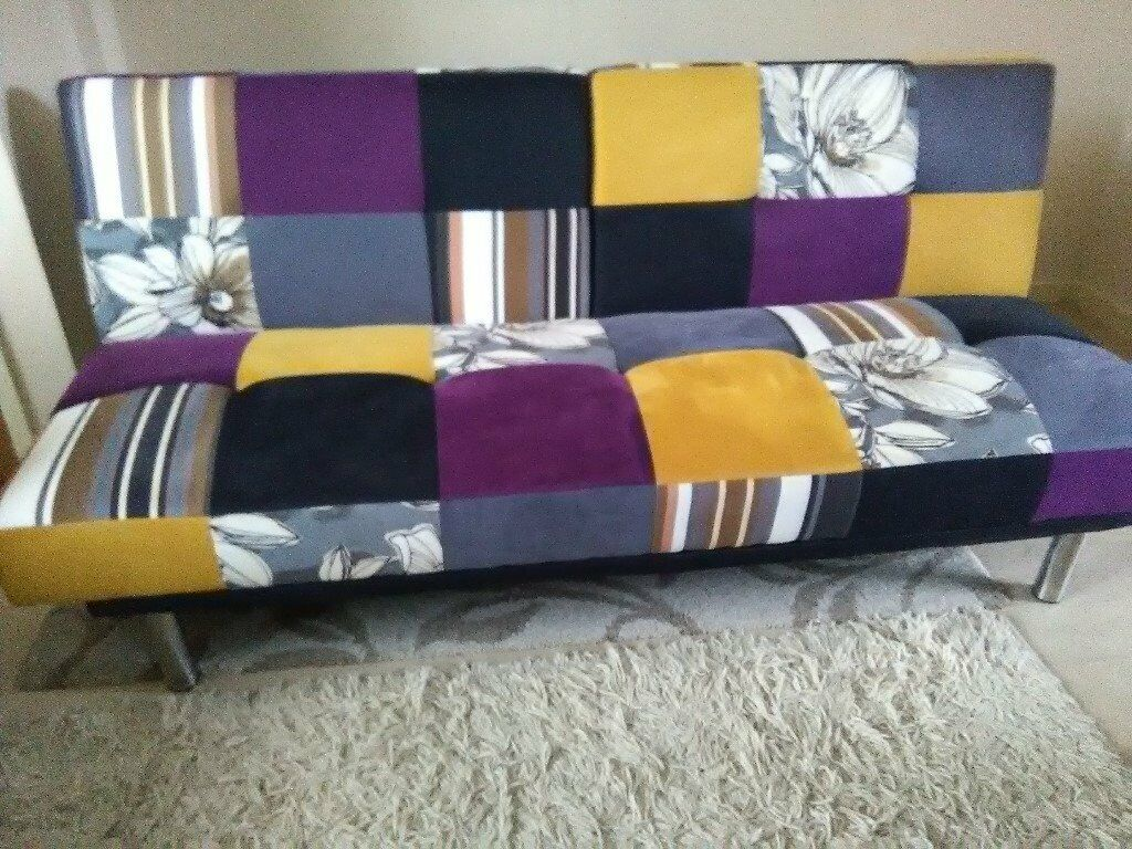 Harvey norman click clack retro fabric floral sofa bed delivery