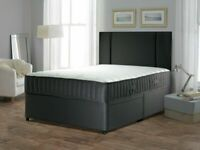 💖🔴EXCELLENT QUALITY🔵💖DOUBLE/KING SIZE DIVAN BED BASE WITH OPTIONAL MATTRESS & HEADBOARD