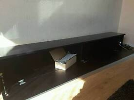 Black wall mounted dvd cabinet