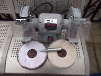 "as new 8"" bench grinder/ polisher"
