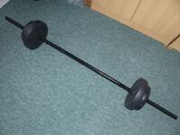 OPTI Vinyl Barbell Dumbell Set 35kg