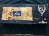 Cristal d'arques wine glasses
