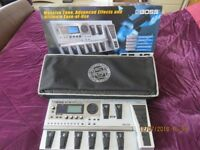BOSS GT 10 MULTI EFFECTS PEDAL WITH BOX, MANUAL,POWER SUPPLY AND BOSS CASE.