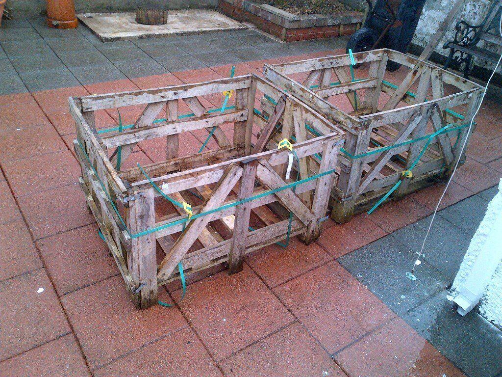 Log Baskets / log store for fire or woodburner stove (x2)