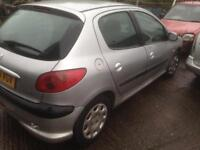 Peugeot 206 runs and drives front end damage