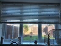 White 50m thick slat blinds x2