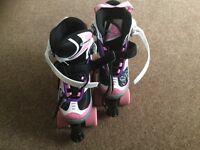 Adjustable quad skates