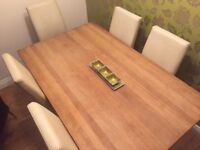For sale-New Price! 10% off now £90 Marks and Spencer's Dining table and 6 chairs. Second hand