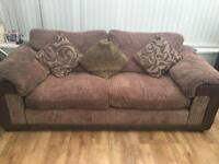 Two three seater settees with sofa bed in one
