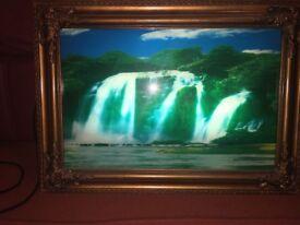 Beautiful light up waterfall frame