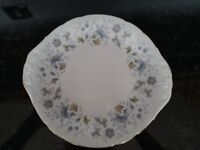 Colclough rhapsody in blue cake serving plate and milk jug