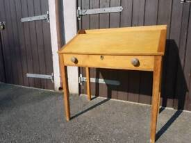 Antique pine writing/clerks desk in beautiful condition