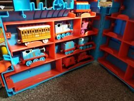 Thomas the tank track playset. Diecast trains. Carry case included. Pick up Fauldhouse.