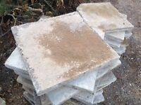 24 large heavy duty concrete paving slabs 610 x 610 x 50mm slabs - ideal for base