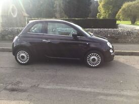 Fiat 500 1.2 lounge 2013(63reg) only 3,900 miles with full fiat service histroy one owner from new..