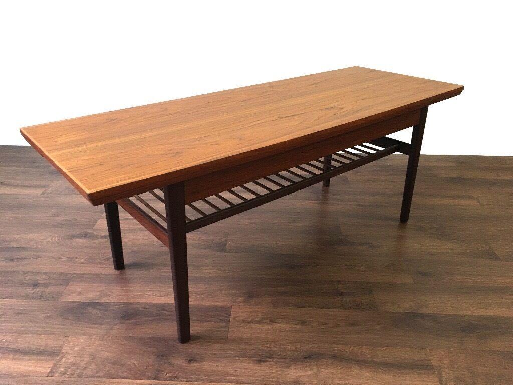 Retro Teak Danish Metamorphic Dining Table Coffee Vintage Mid Century Modern