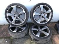 20'' GENUINE ROTOR ALLOY WHEELS WITH PIRELLI P ZERO TYRES A4 A6 A7 A5 Q5 TTRS