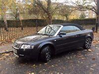 Audi A4 Convertible 2.4, 2003, Black, MOT 12/17
