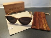 Wood Fellas Wooden Round Sunglasses Brand New