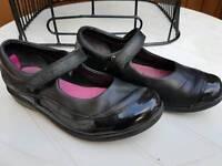 Girls Clarks Size12 school shoes