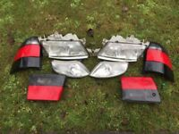 Saab head and rear lights and radiator fans