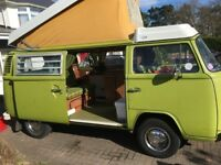 1975 VW Campervan: recent 1600 reconditioned engine; original features and furnishings