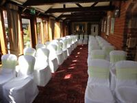 50x Wedding/ Banqueting Chair Covers £6 each or £300 (for lot) ono