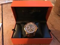 Stuhrling automatic gold/brown watch