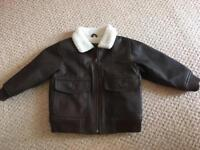 Boys leather jacket from Gap (2 years)