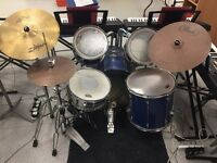 Drum kitr in good condition - with cymbals and stands