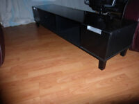 """TV Stand- Modern Gloss black. Would suit large TV up to 60"""""""