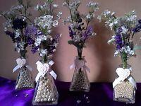 Small Silk Flower Arrangements/Wedding, Shop Decoration £8 for all four.