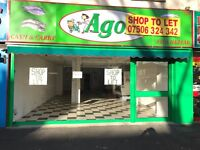 LARGE SHOP TO LET, MANOR PARK E12 ,BUSY LOCATION ROMFORD ROAD, close to ILFORD, STRATFORD, EAST HAM,