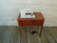 Singer 507 Electric Sewing Machine Table & Accessories including cottons on Needles etc.