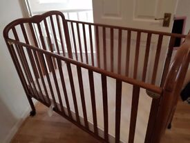 Mamas and papas cot with mattress