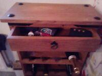 Oak wooden wine rack