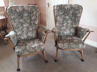 Ercol Windsor Evergreen armchairs (x2)