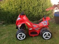Electric ride on quad bike suitable for 18 mths - 3yrs