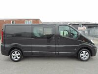 FINANCE ME!! NO VAT!! Stunning Vauxhall Vivaro sportive 6 seat crew van with only 95k from new...