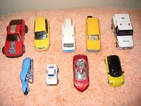Nine Various Metal Toy Cars and Vehicles